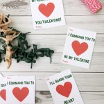 Free Printable Kids Valentine Cards With Army Guys!   Must Have Mom   Free Printable School Valentines Cards