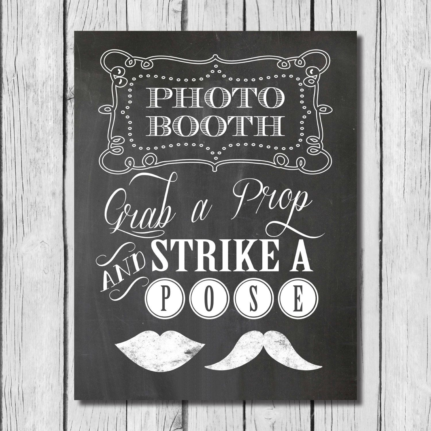 Free Printable Kissing Booth Sign - Free Printable Grab A Prop - Selfie Station Free Printable