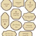 Free Printable Labels Vintage 2018 | Corner Of Chart And Menu   Free Printable Vintage Labels