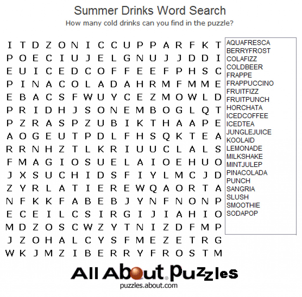 Free Printable Large Print Word Search Puzzles - Printable 360 - Free Printable Word Searches For Adults Large Print