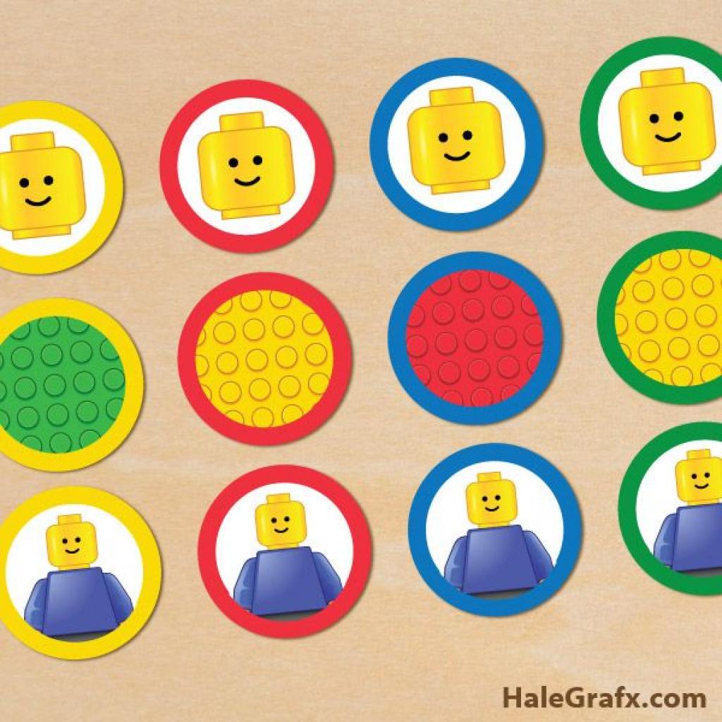 Free Printable Lego Building Blocks Cupcake Toppers | Kids' Parties - Free Printable Lego Cupcake Toppers