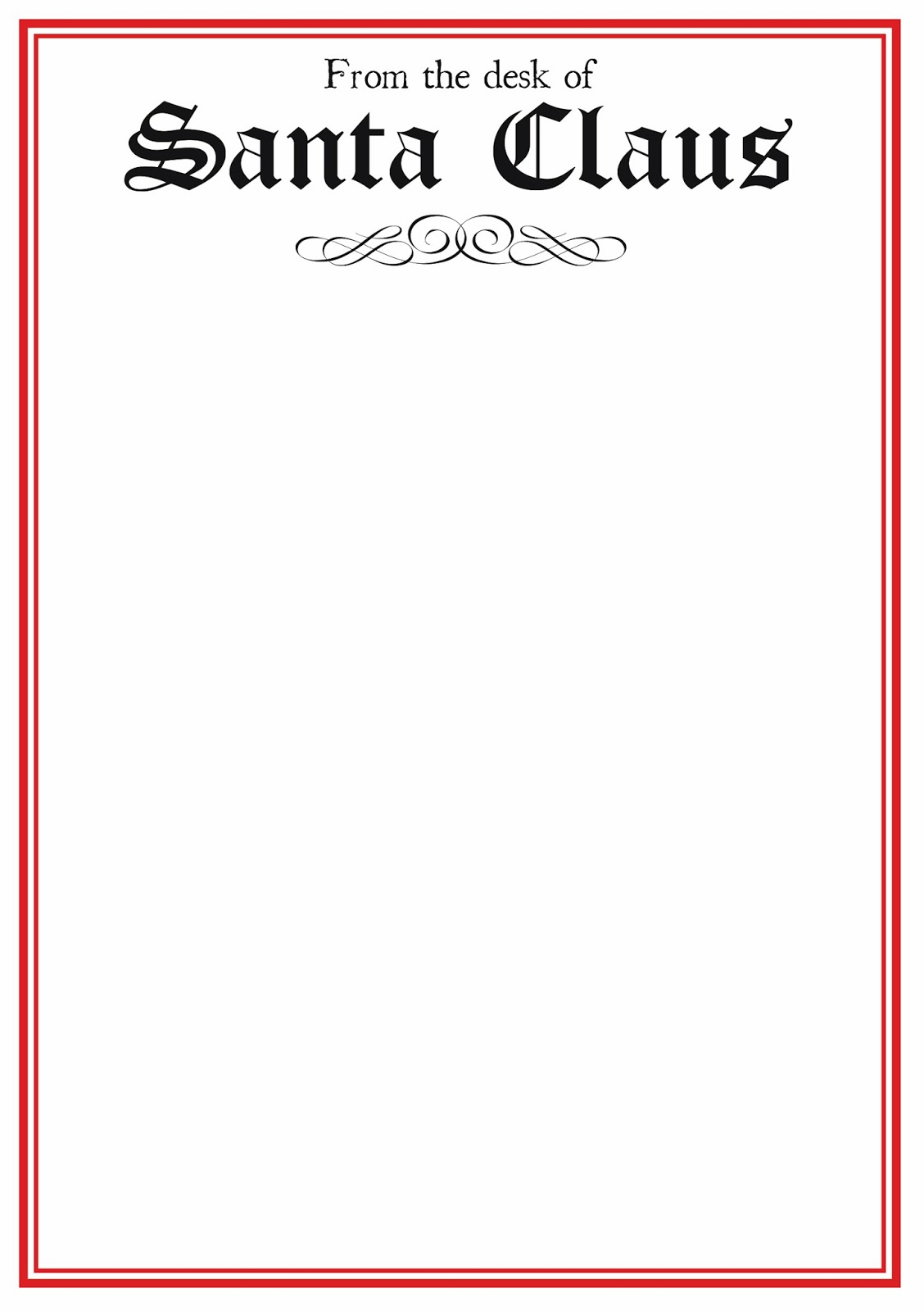 Free Printable Letter From Santa Template Word Download - Free Santa Templates Printable