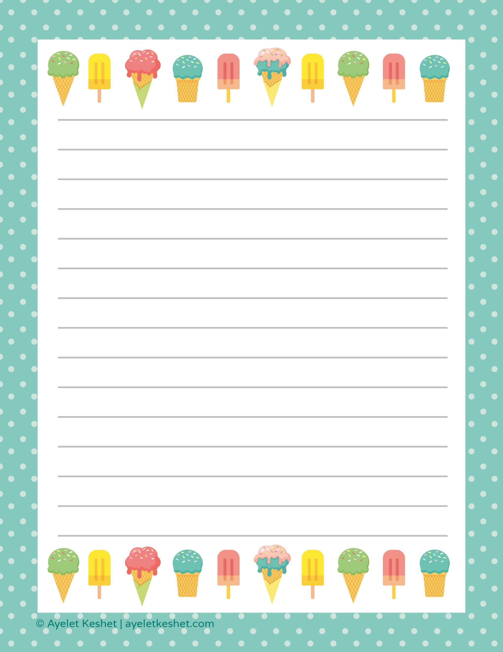 Free Printable Letter Paper | Printables To Go | Free Printable - Free Printable Stationery Writing Paper
