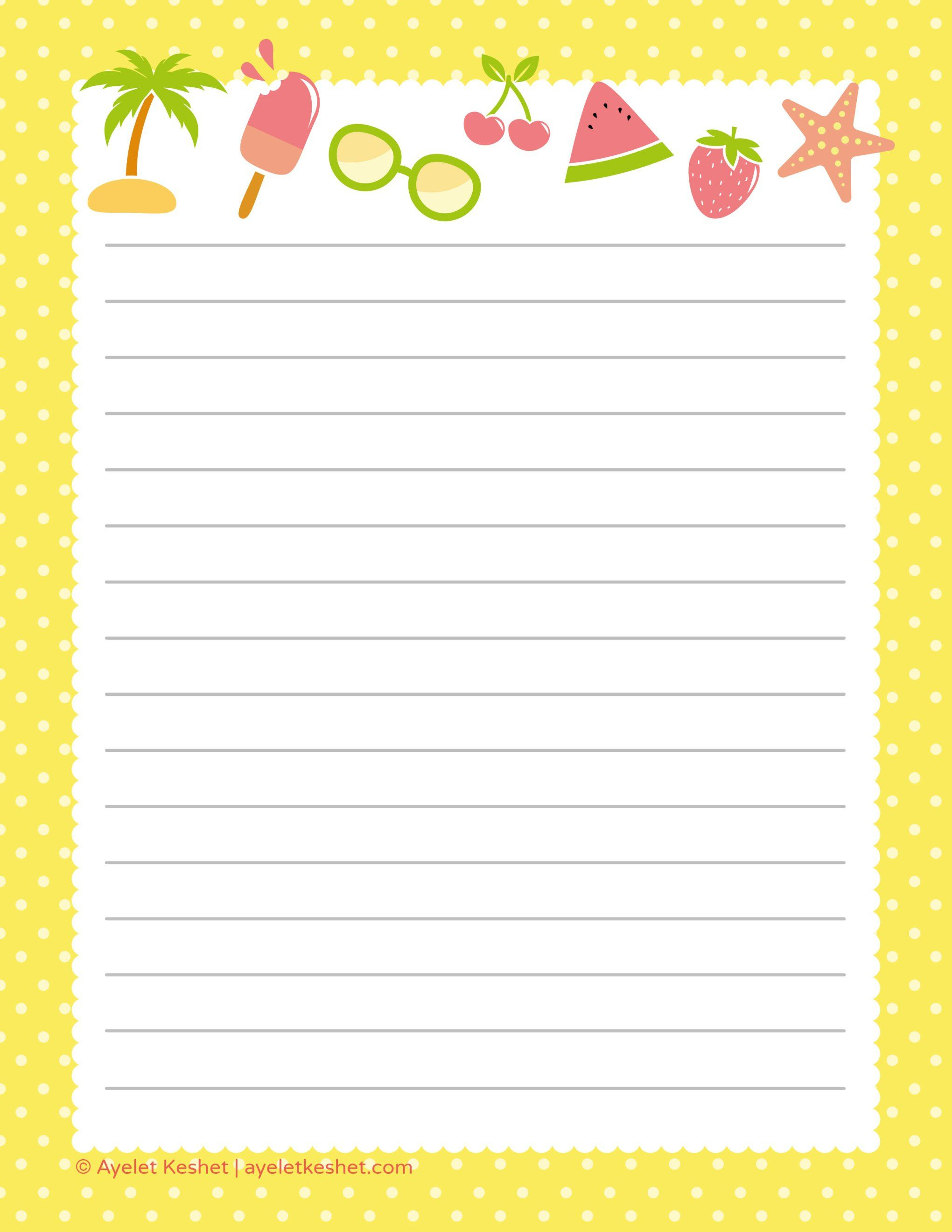 Free Printable Letter Paper | Printables To Go | Pinterest - Free Printable Stationary Pdf