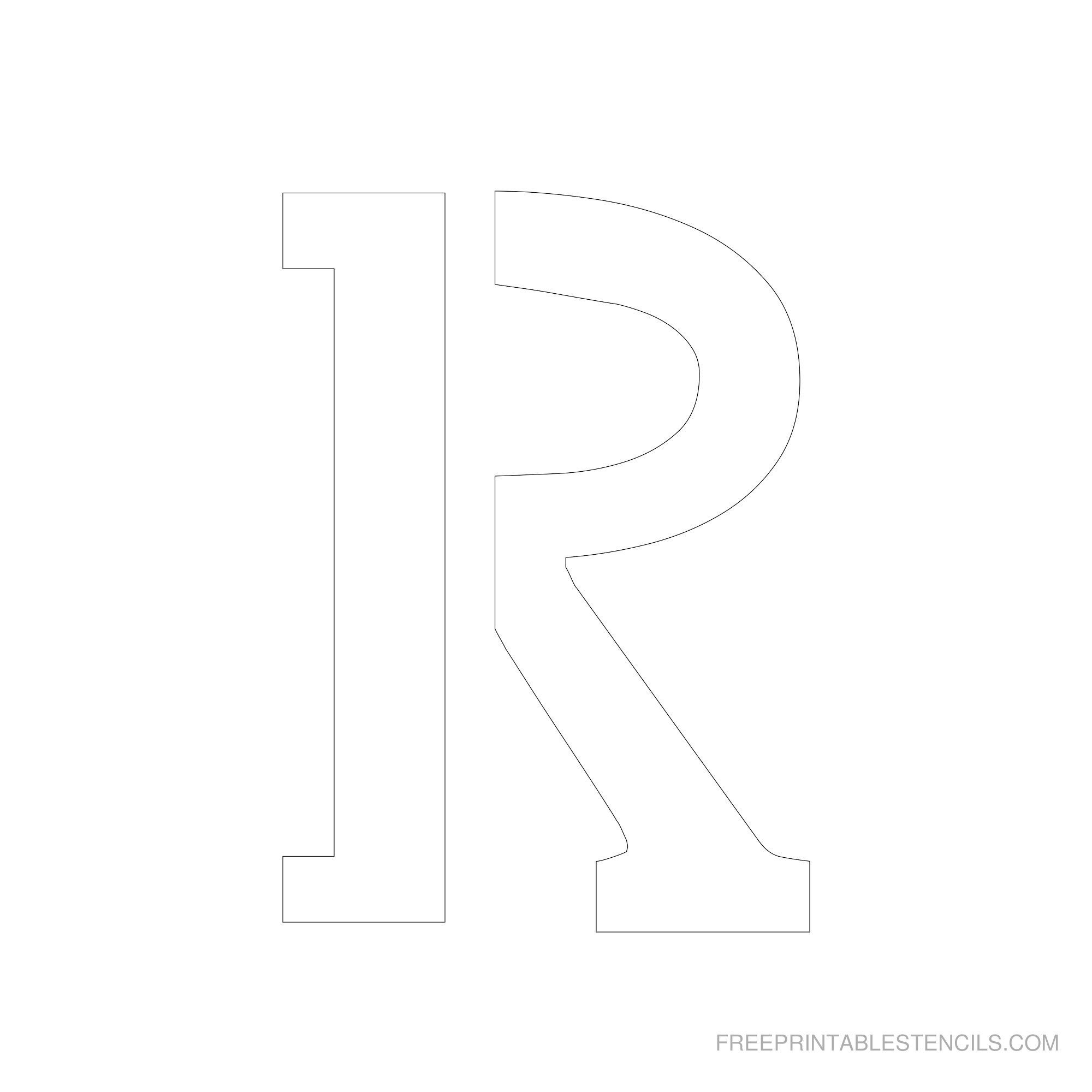 Free Printable Letter Stencils | Free Printable 6 Inch Alphabet - Free Printable 4 Inch Number Stencils