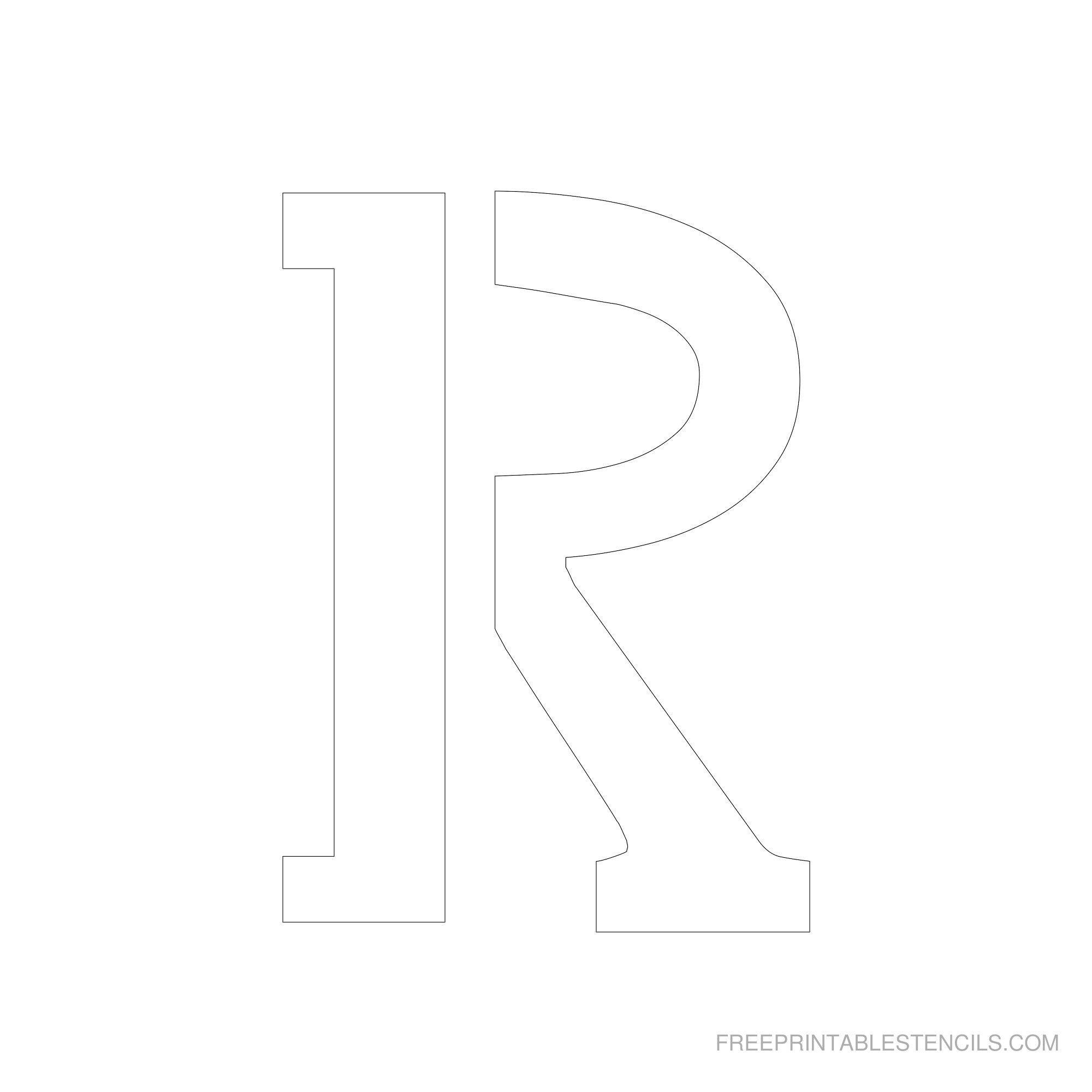 Free Printable Letter Stencils   Free Printable 6 Inch Alphabet - Free Printable 8 Inch Letters