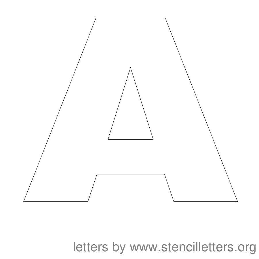 Free Printable Letter Stencils | Stencil Letters 12 Inch Uppercase - One Inch Stencils Printable Free