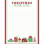 "Free Printable ""letter To Santa"", ""christmas Wish List"" And Tag   Free Printable Christmas Wish List"