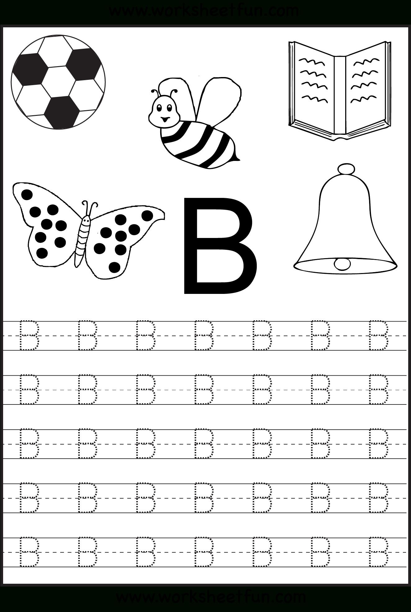 Free Printable Letter Tracing Worksheets For Kindergarten – 26 - Free Printable Alphabet Pages