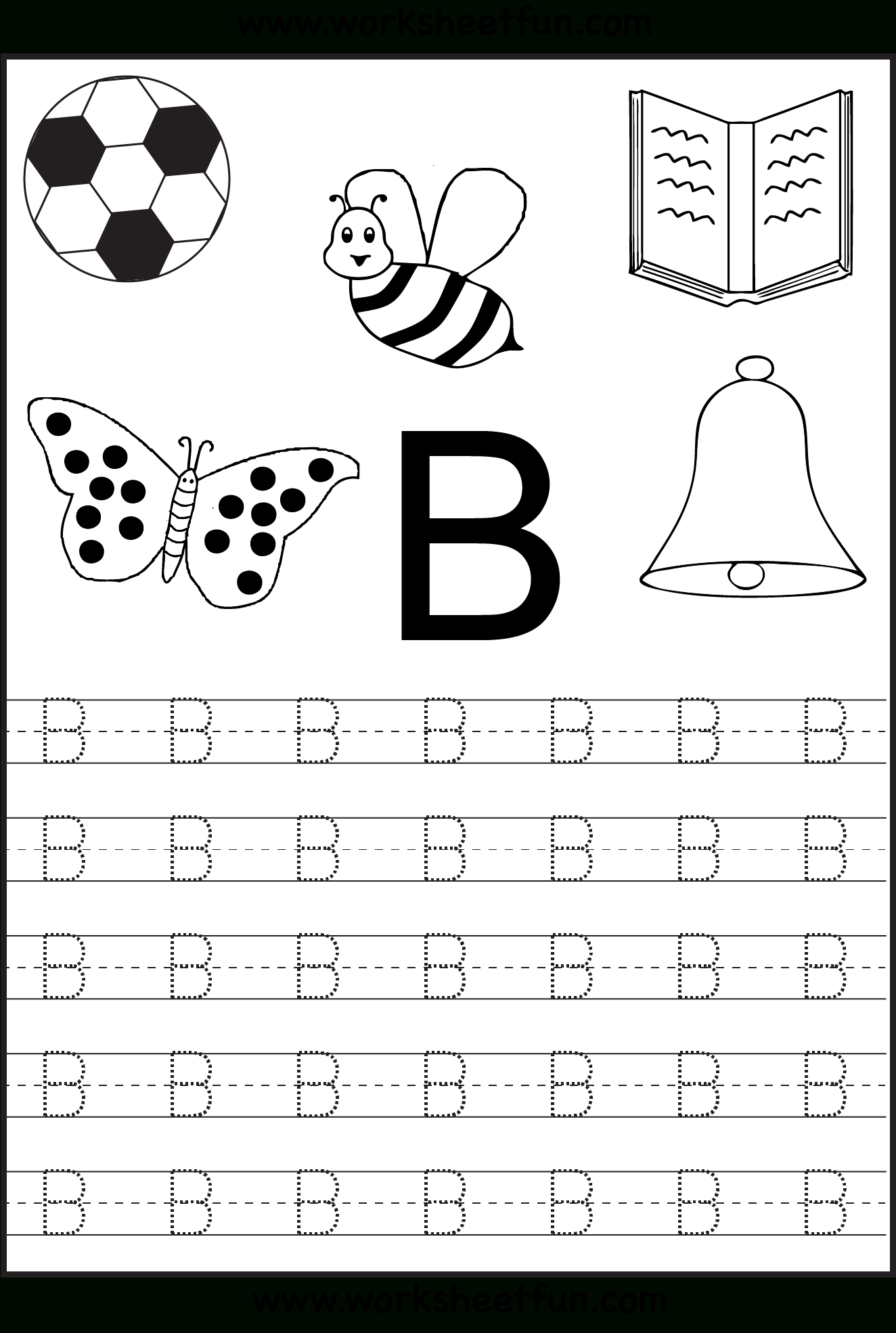 Free Printable Letter Tracing Worksheets For Kindergarten – 26 - Free Printable Alphabet Worksheets For Grade 1