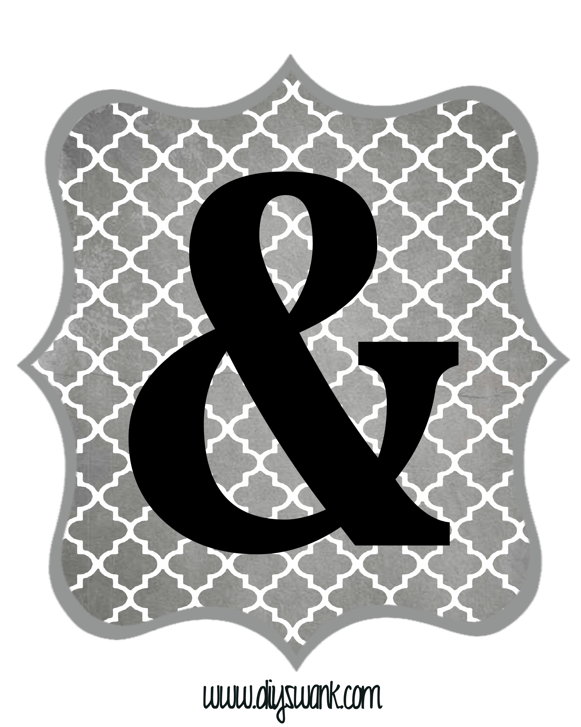 Free Printable Letters Gray And Black | Diy Swank - Free Printable Letters