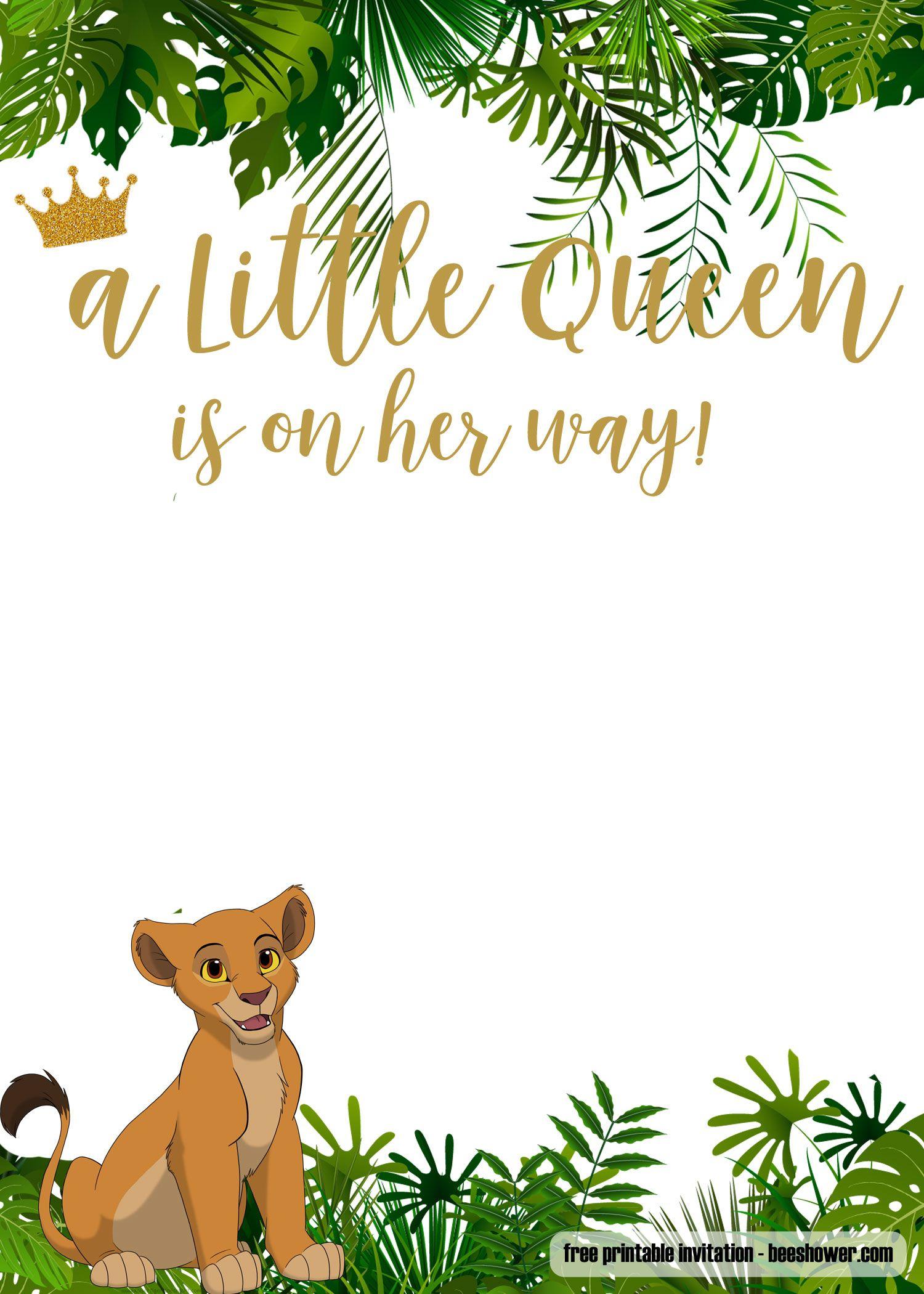 Free Printable Lion King Baby Shower Invitations | Free Printable - Free Printable Lion King Baby Shower Invitations