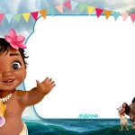 Free Printable Little Moana Birthday And Baby Shower | Moana   Free Printable Moana Birthday Invitations