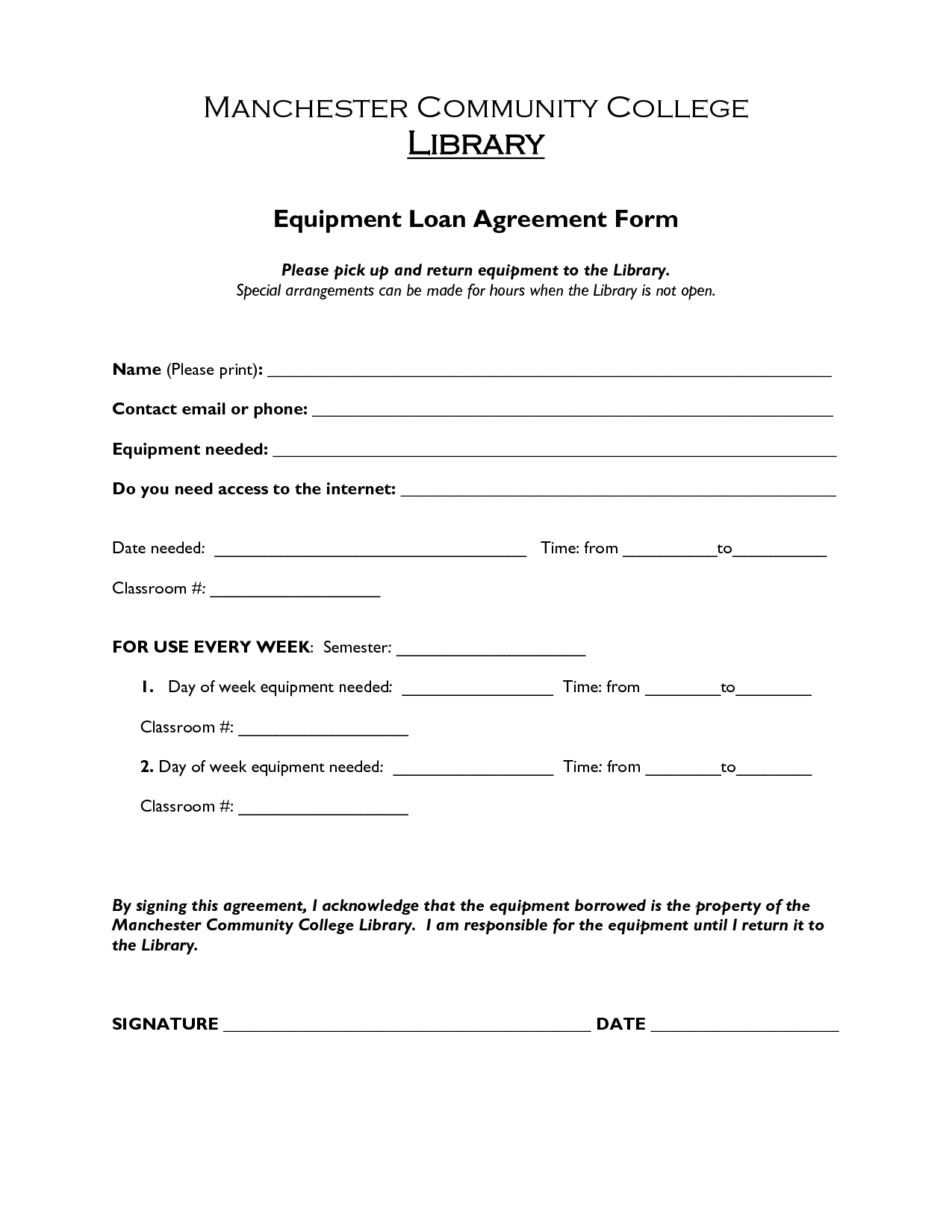 Free Printable Loan Agreement Form Form (Generic) Intended For - Free Printable Loan Forms