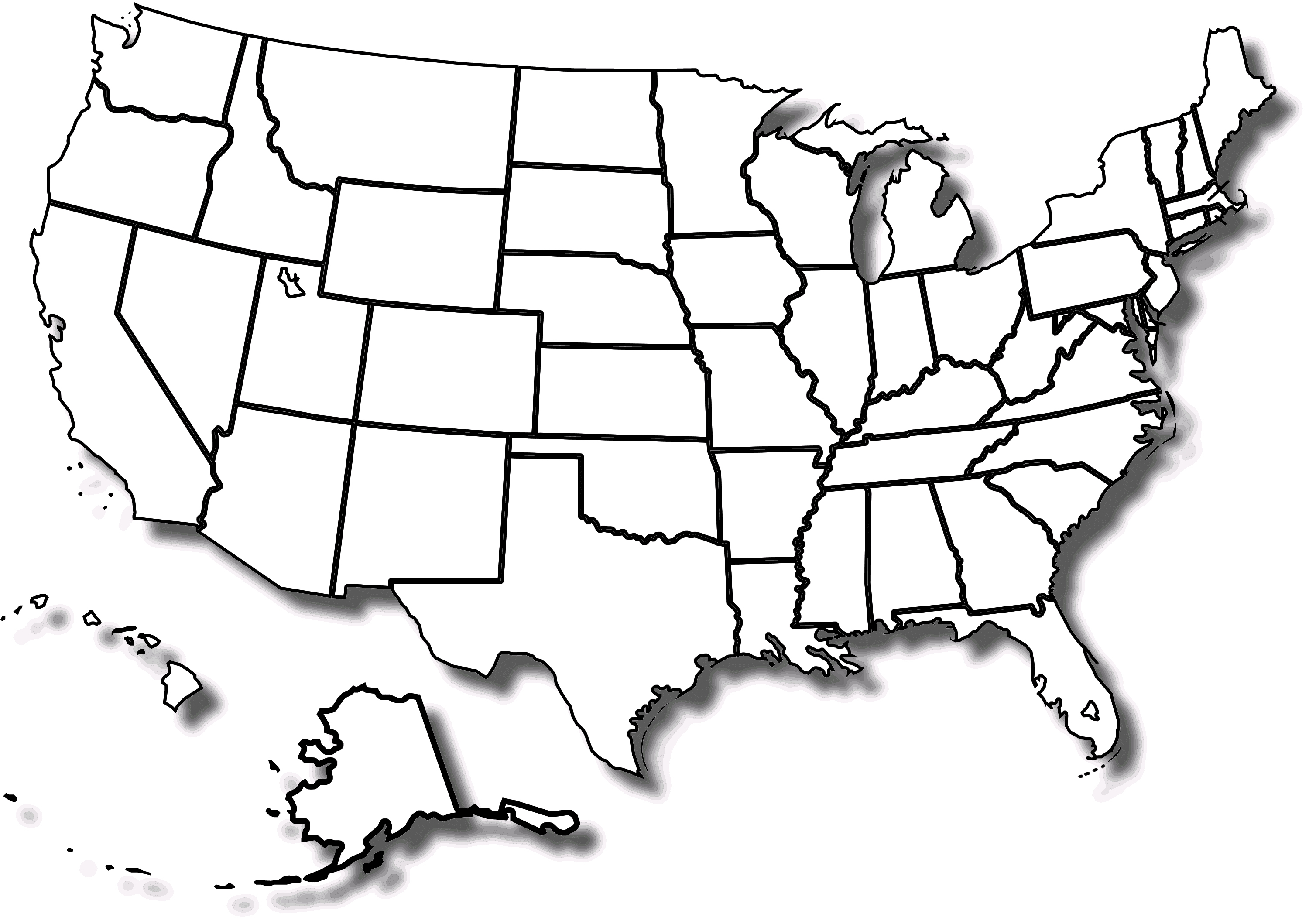 Free Printable Map Of The United States With State Names And Travel - Free Printable Outline Map Of United States