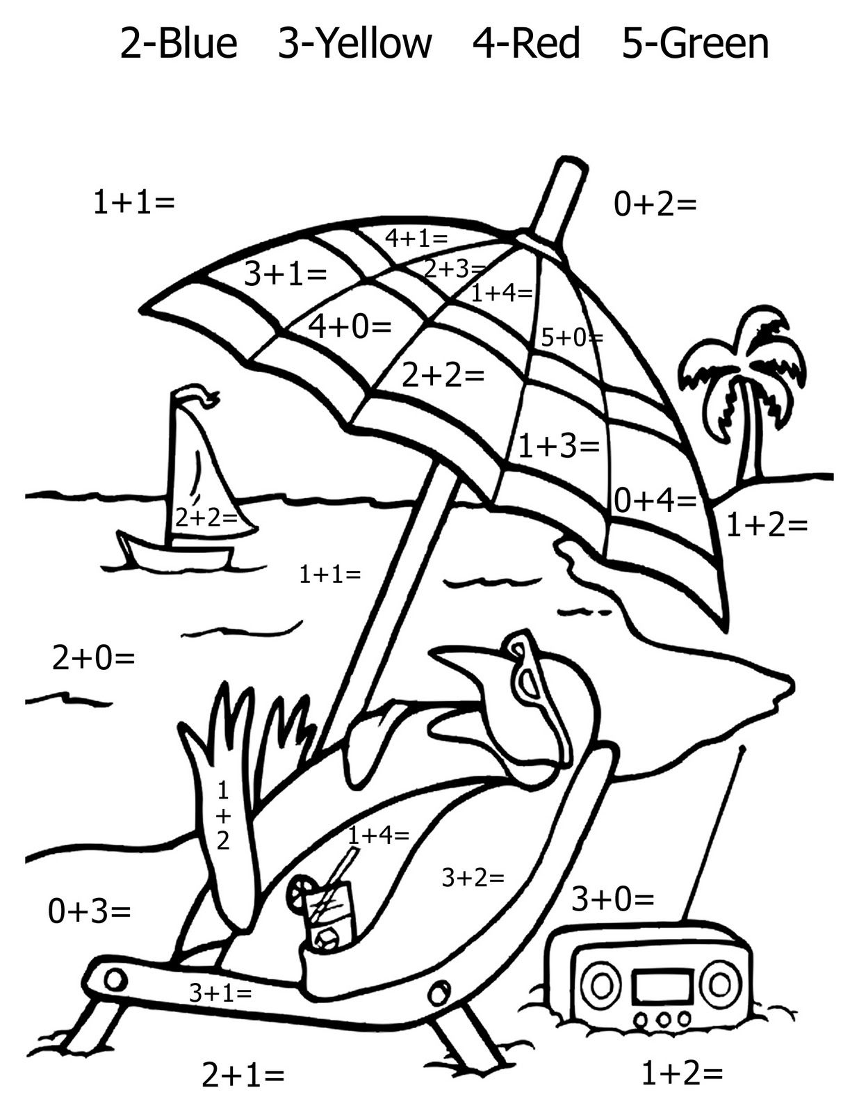 Free Printable Math Coloring Pages For Kids   Kinder Math - Free Printable Math Coloring Sheets