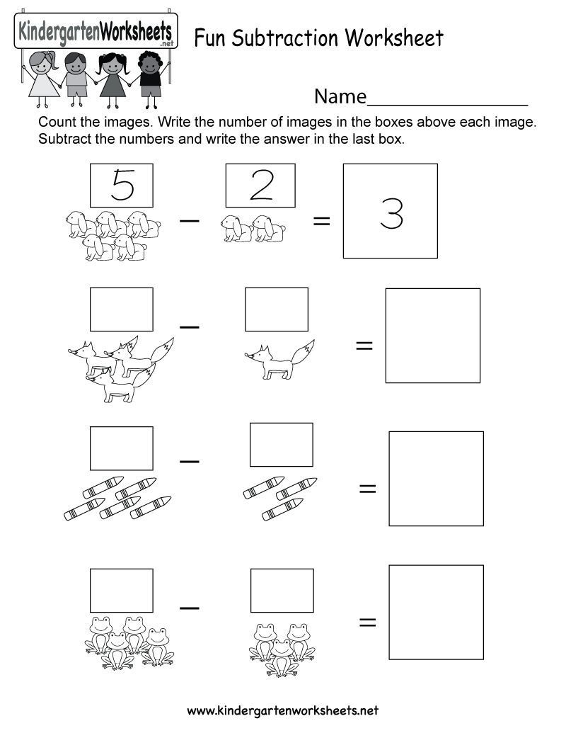 Free Printable Math Subtraction Worksheet For Kindergarten - Free Printable Subtraction Worksheets