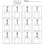 Free Printable Math Subtraction Worksheets For Kindergarten | K5   Free Printable Math Worksheets For Kindergarten
