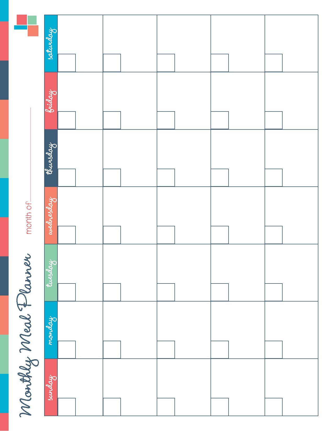 Free Printable Meal Planner Kitchen Set   Recipes   Meal Planner - Free Printable Monthly Meal Planner