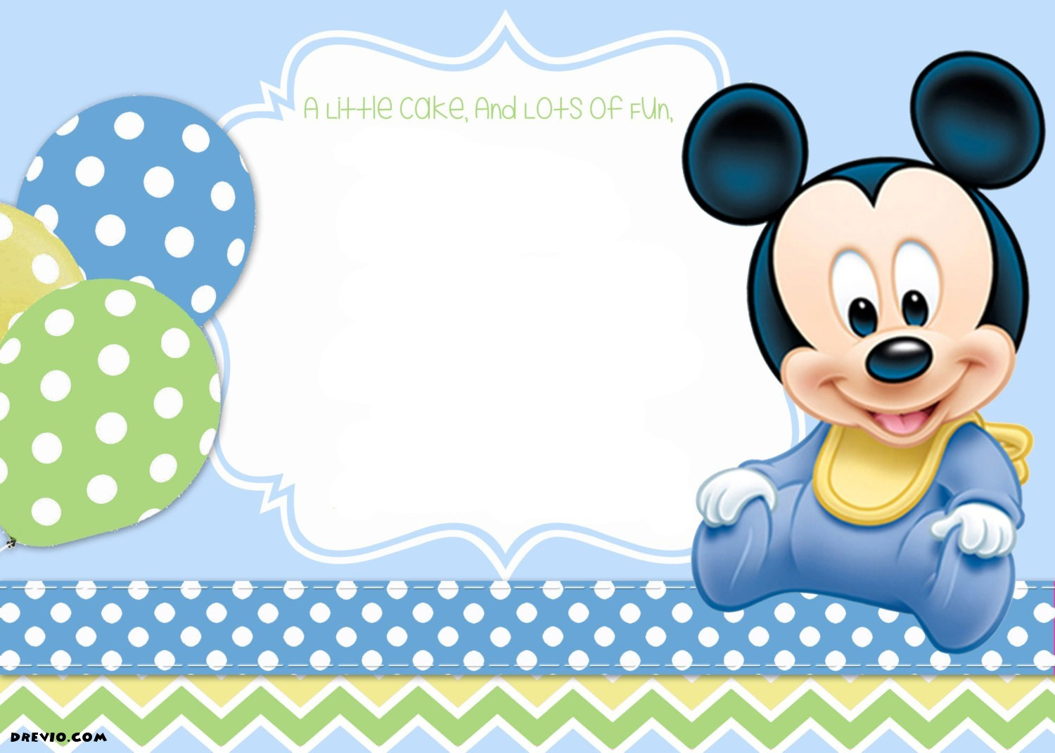 Free Printable Mickey Mouse 1St Birthday Invitations Template Drevio - Free Printable Mickey Mouse 1St Birthday Invitations