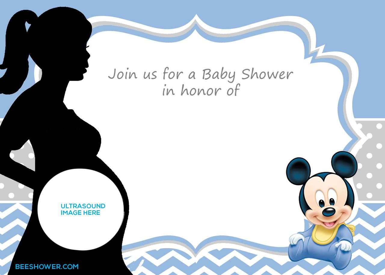 Free Printable Mickey Mouse Baby Shower Invitation Template | Baby - Free Printable Baby Mickey Mouse Birthday Invitations