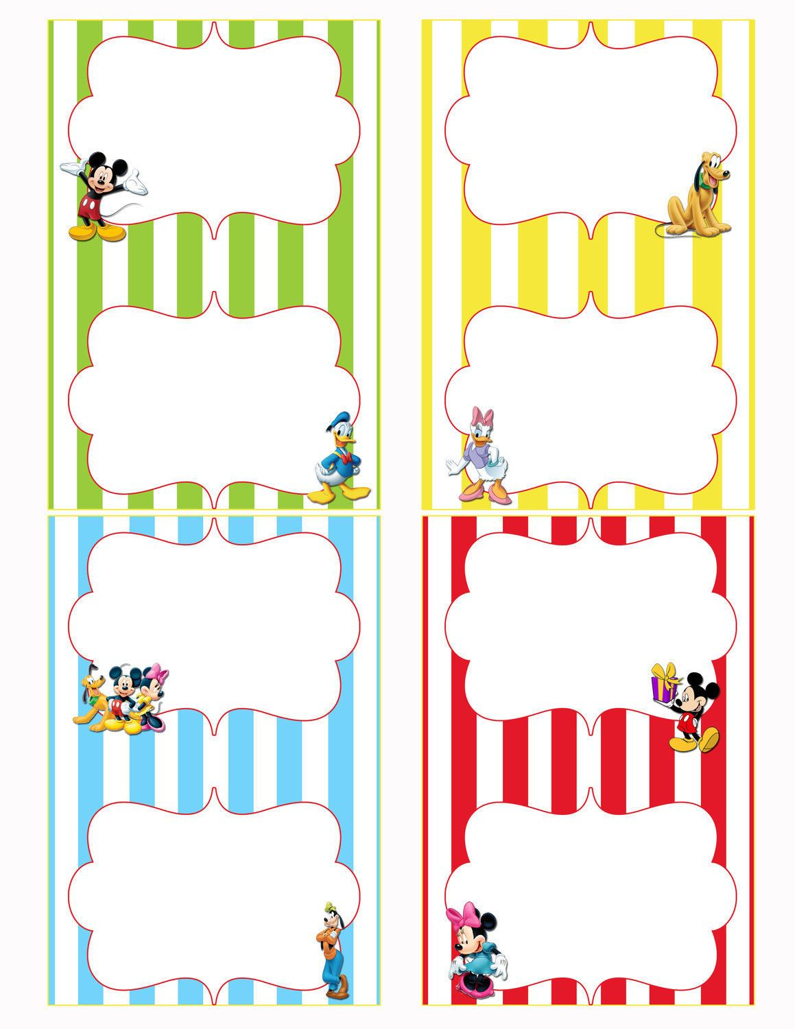Free Printable Mickey Mouse Food Labels   Birthdays In 2019 - Free Printable Mickey Mouse Favor Tags