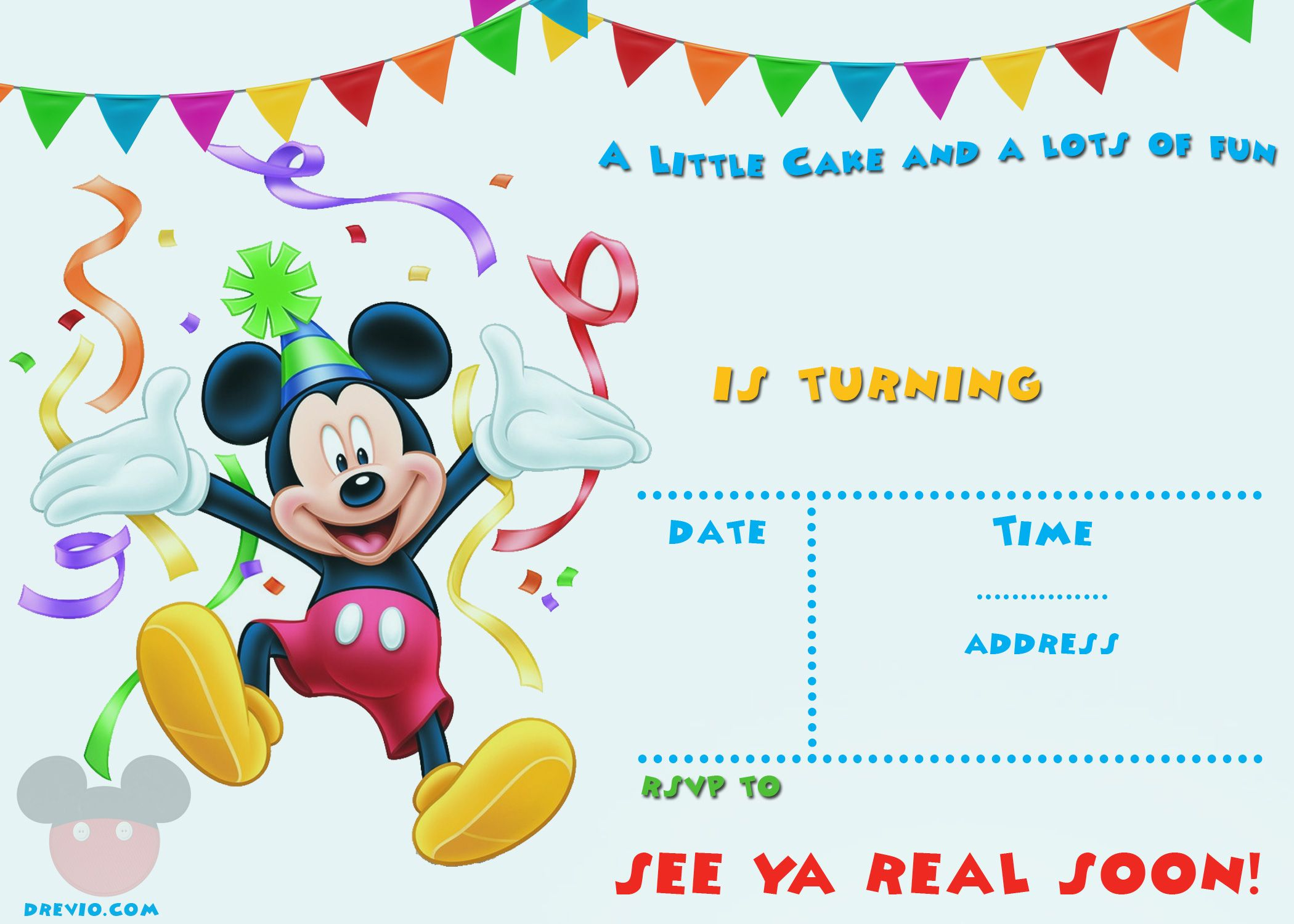 Free Printable Mickey Mouse Party Invitation | Free Printable - Free Mickey Mouse Printable Templates