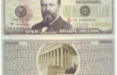 Free Printable Million Dollar Bill | Free Printable – Free Printable Million Dollar Bill