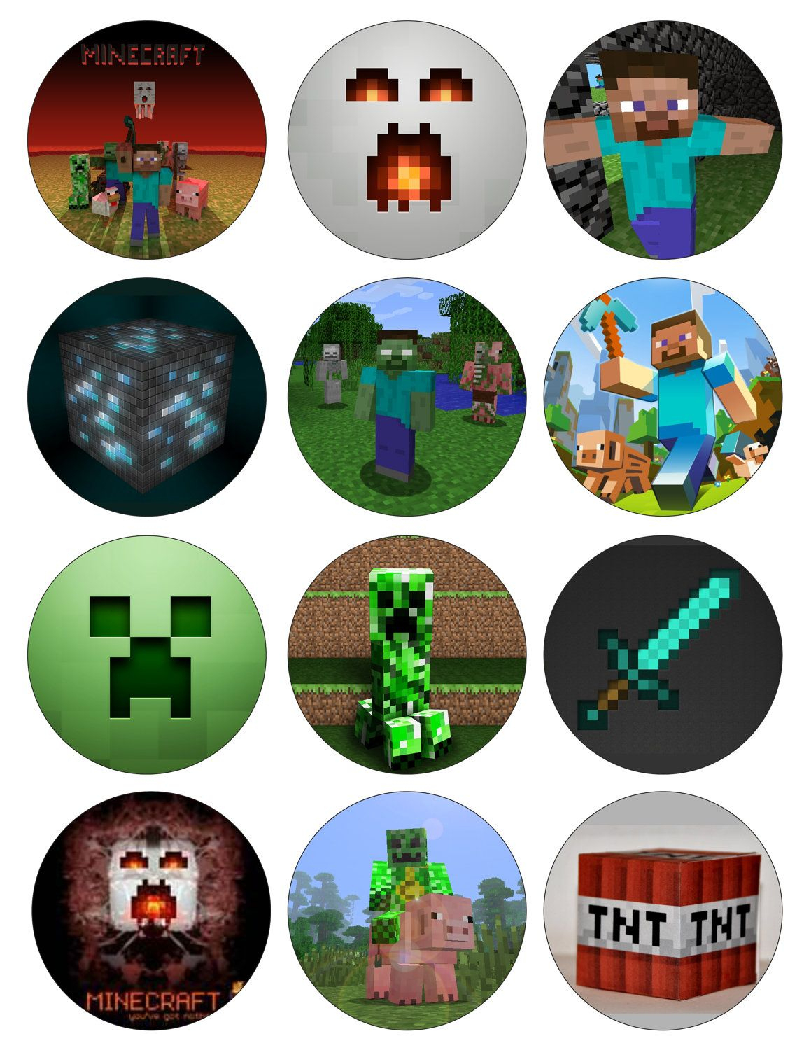 Free Printable Minecraft Cupcake Toppers | Minecraft Cupcakes - Free Printable Minecraft Cupcake Toppers And Wrappers