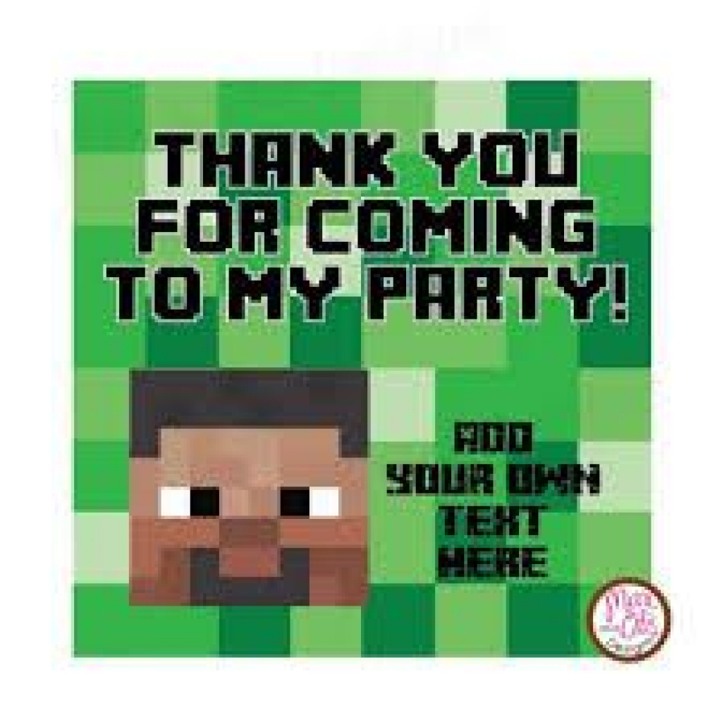 Free Printable Minecraft Thank You Cards - Google Search | Minecraft - Free Printable Minecraft Thank You Notes