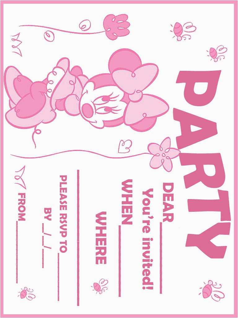 Free Printable Minnie Mouse 1St Birthday Invitations Printable - Free Printable Minnie Mouse Party Invitations