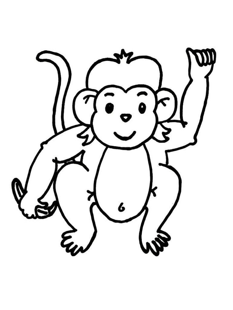 Free Printable Monkey Coloring Pages For Kids | Color Pages - Free Printable Monkey Coloring Sheets