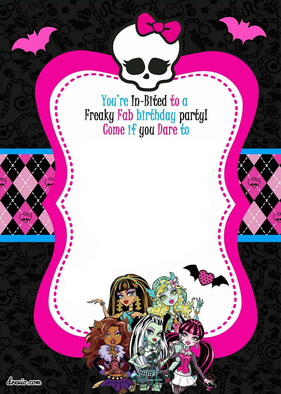 Free Printable Monster High Birthday   Free Printable Birthday - Monster High Cupcake Toppers Printable Free