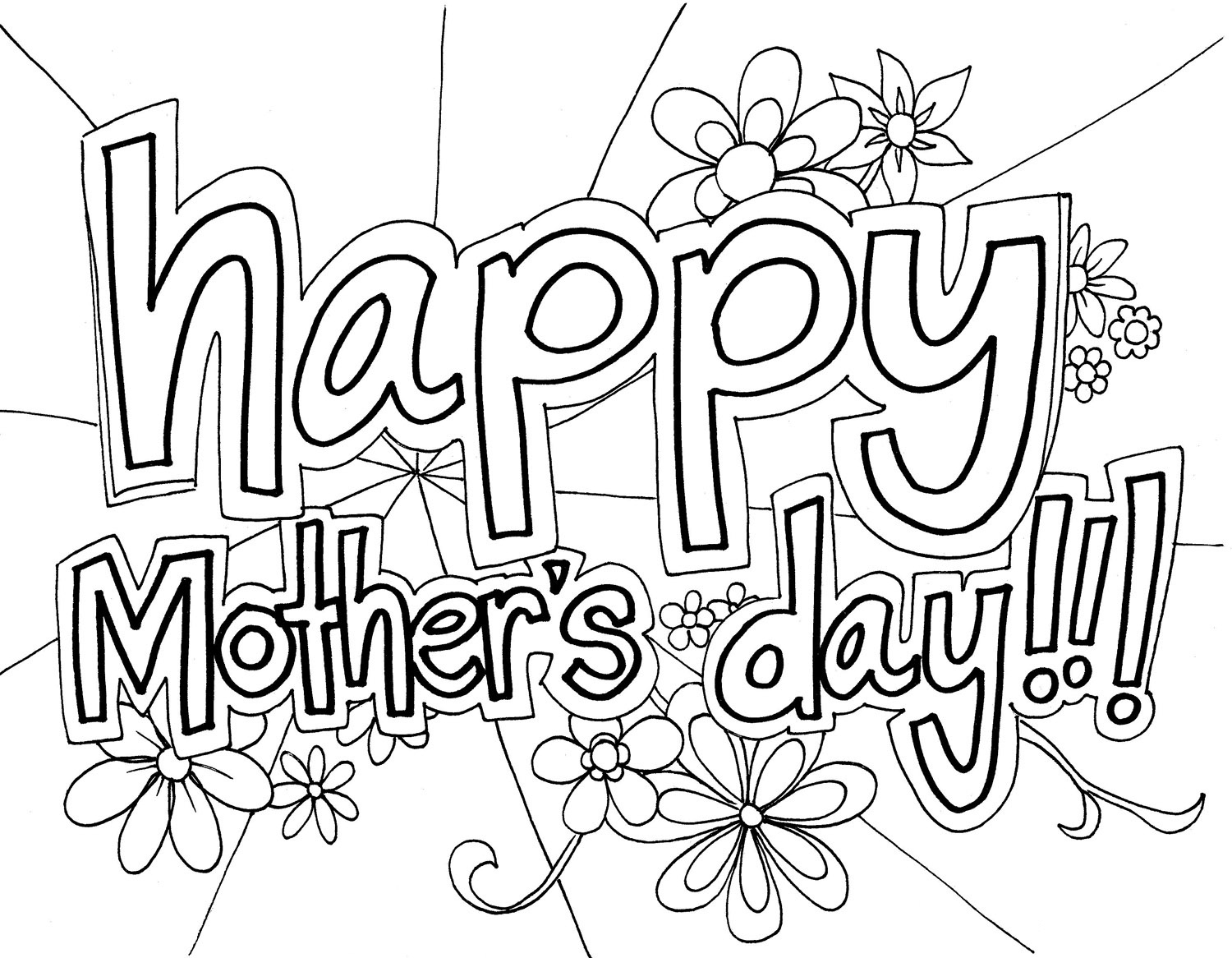 Free Printable Mothers Day Coloring Pages - Coloring Pages For Kids - Free Printable Mothers Day Coloring Pages
