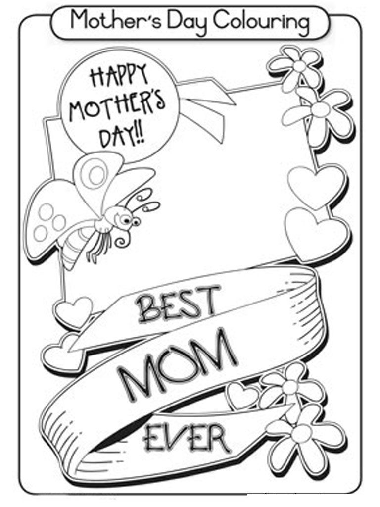 Free Printable Mothers Day Coloring Pages For Kids | Fir | Pinterest - Free Printable Mothers Day Coloring Pages