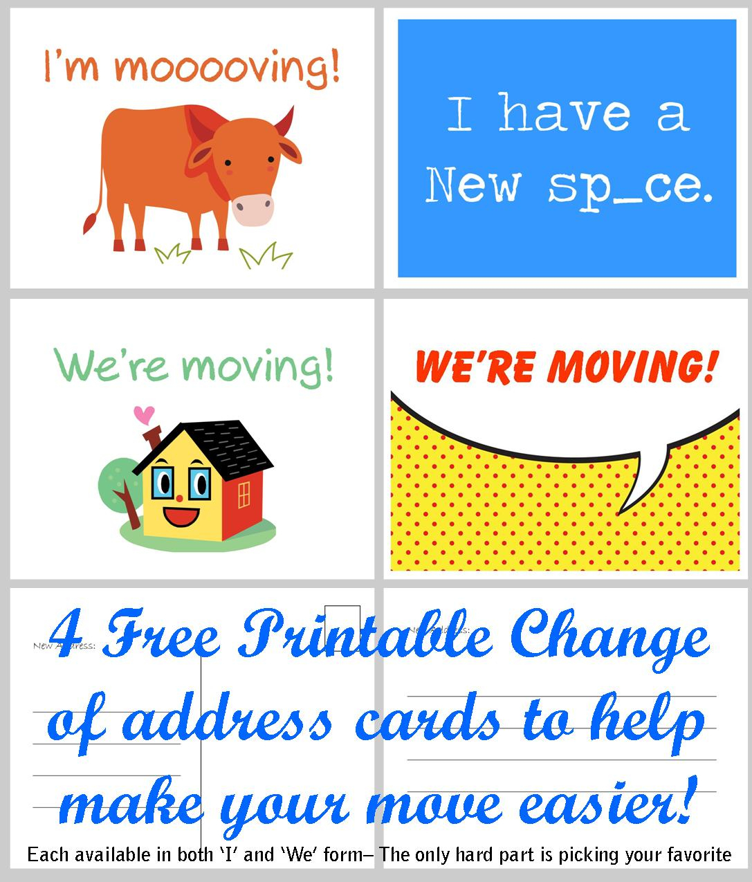 Free Printable Moving Announcement Change Of Address Card – Premier - Free Printable Moving Announcement Templates