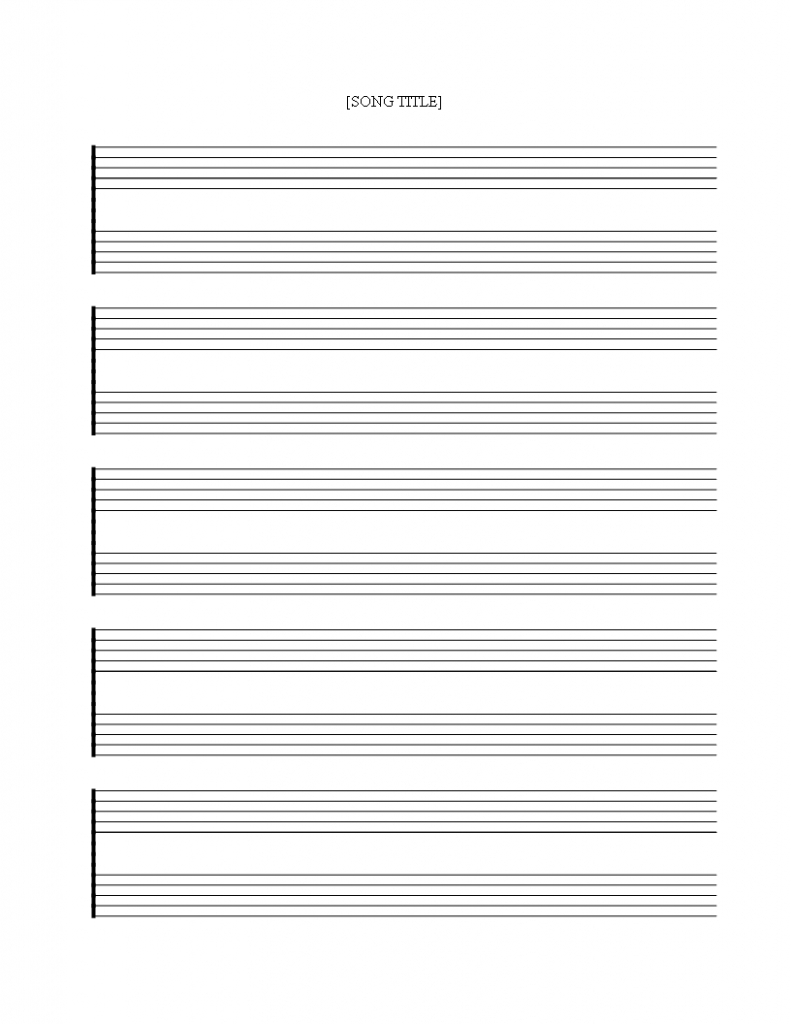 Free Printable Music Staff Sheet 5 Double Lines - Download This Free - Free Printable Staff Paper Blank Sheet Music Net