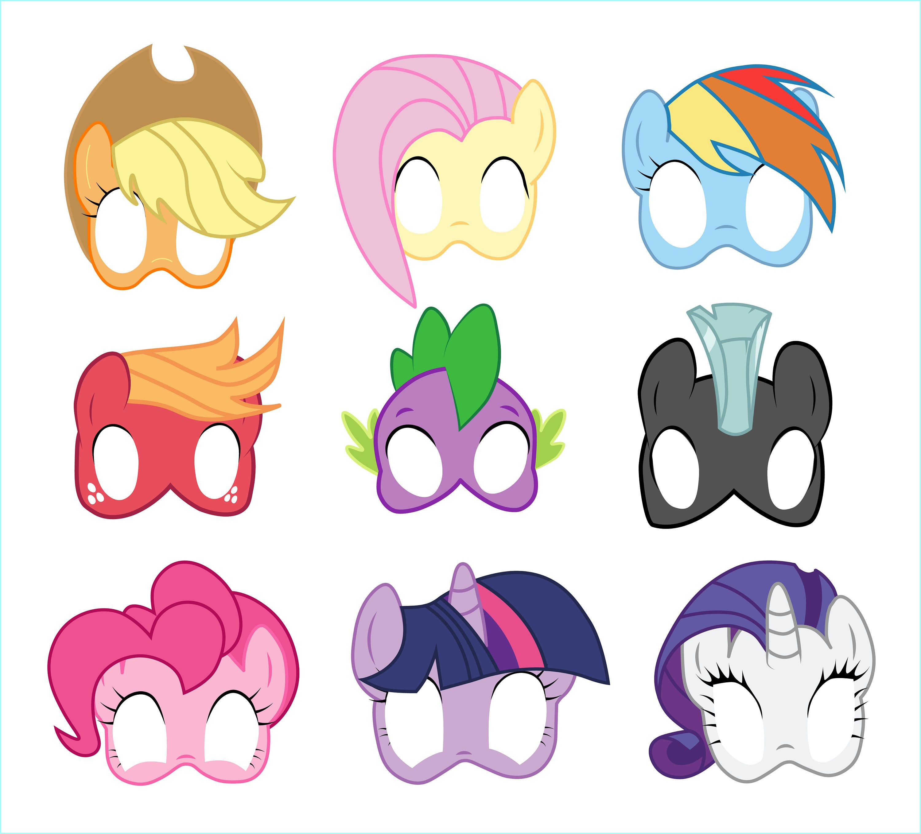 Free Printable My Little Pony Masks - 3.15.kaartenstemp.nl • - Printable 90S Props Free