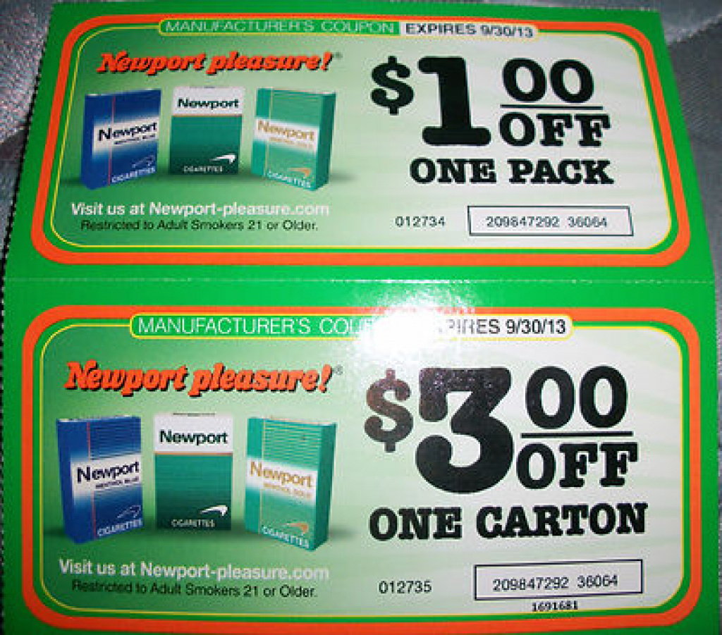 Free Printable Newport Cigarette Coupons | Free Printable - Free Printable Newport Cigarette Coupons
