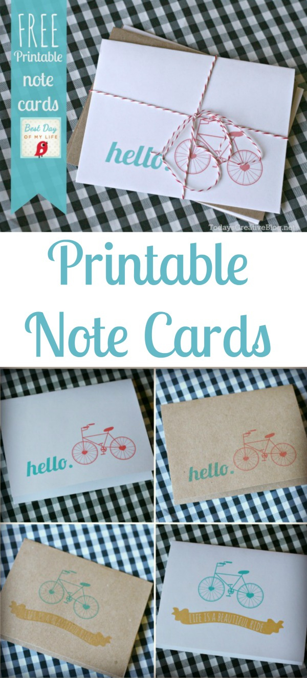 Free Printable Note Cards | Today's Creative Life - Free Printable Note Cards