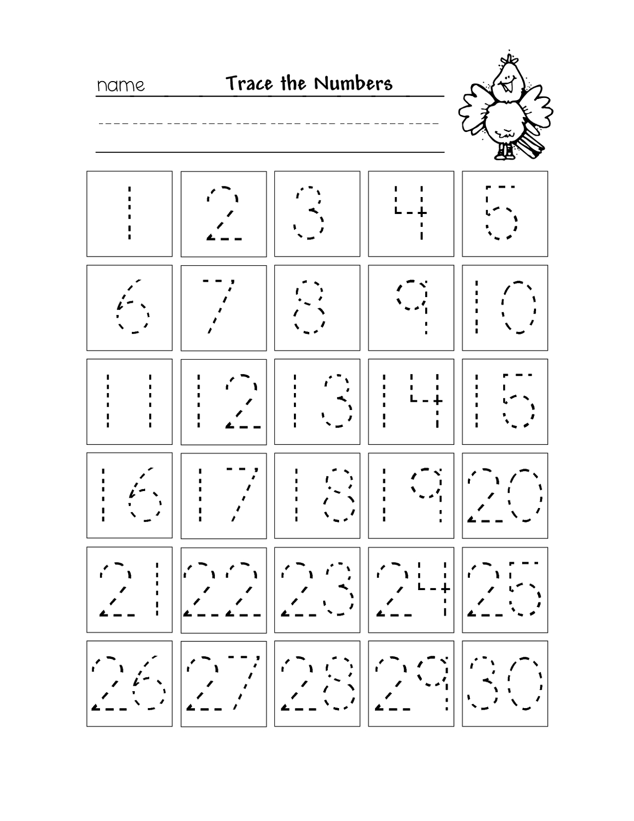 Free Printable Number Chart 1-30 | Kinder | Numbers Preschool - Free Printable Numbers