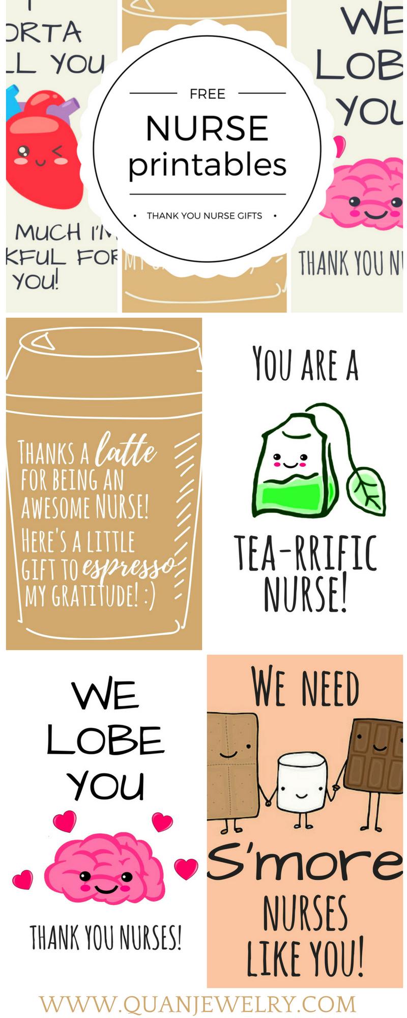 Free Printable Nurse Appreciation Thank You Cards   Gifts For Nurses - Nurses Day Cards Free Printable