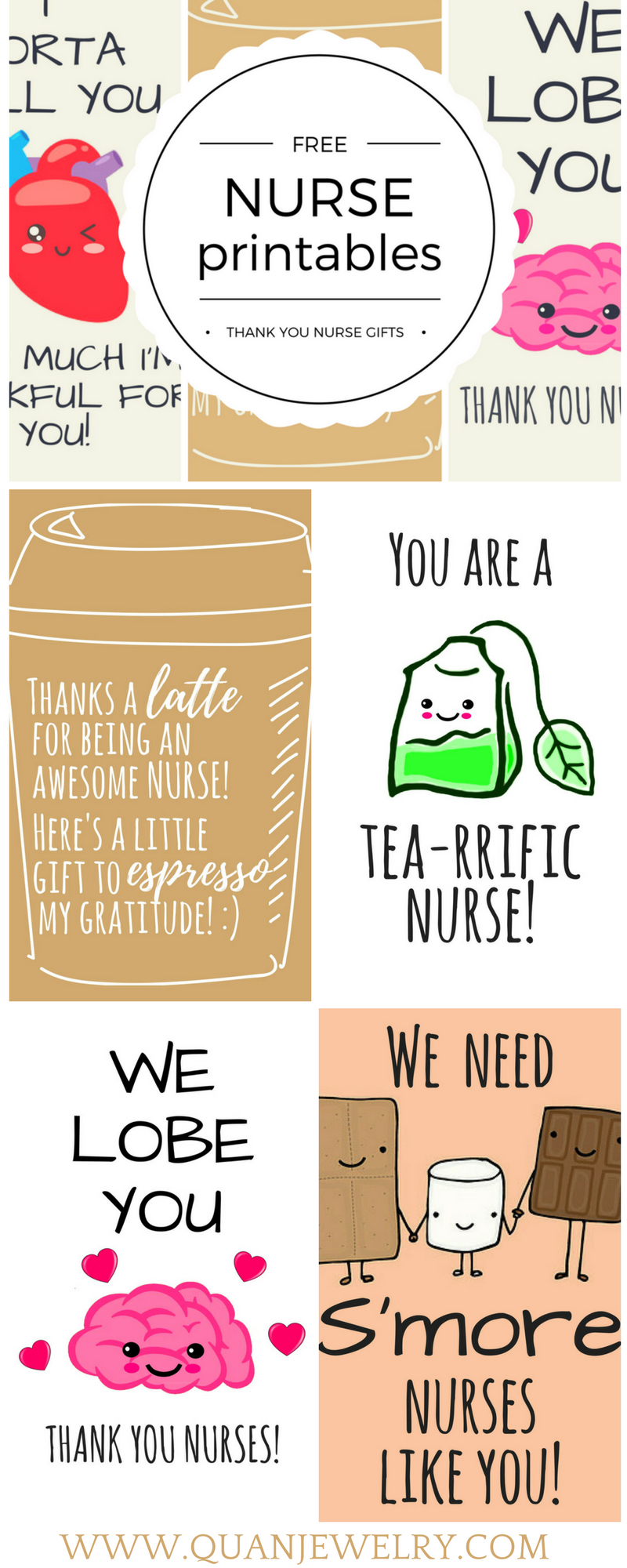 Free Printable Nurse Appreciation Thank You Cards | Gifts For Nurses - Nurses Week 2016 Cards Free Printable