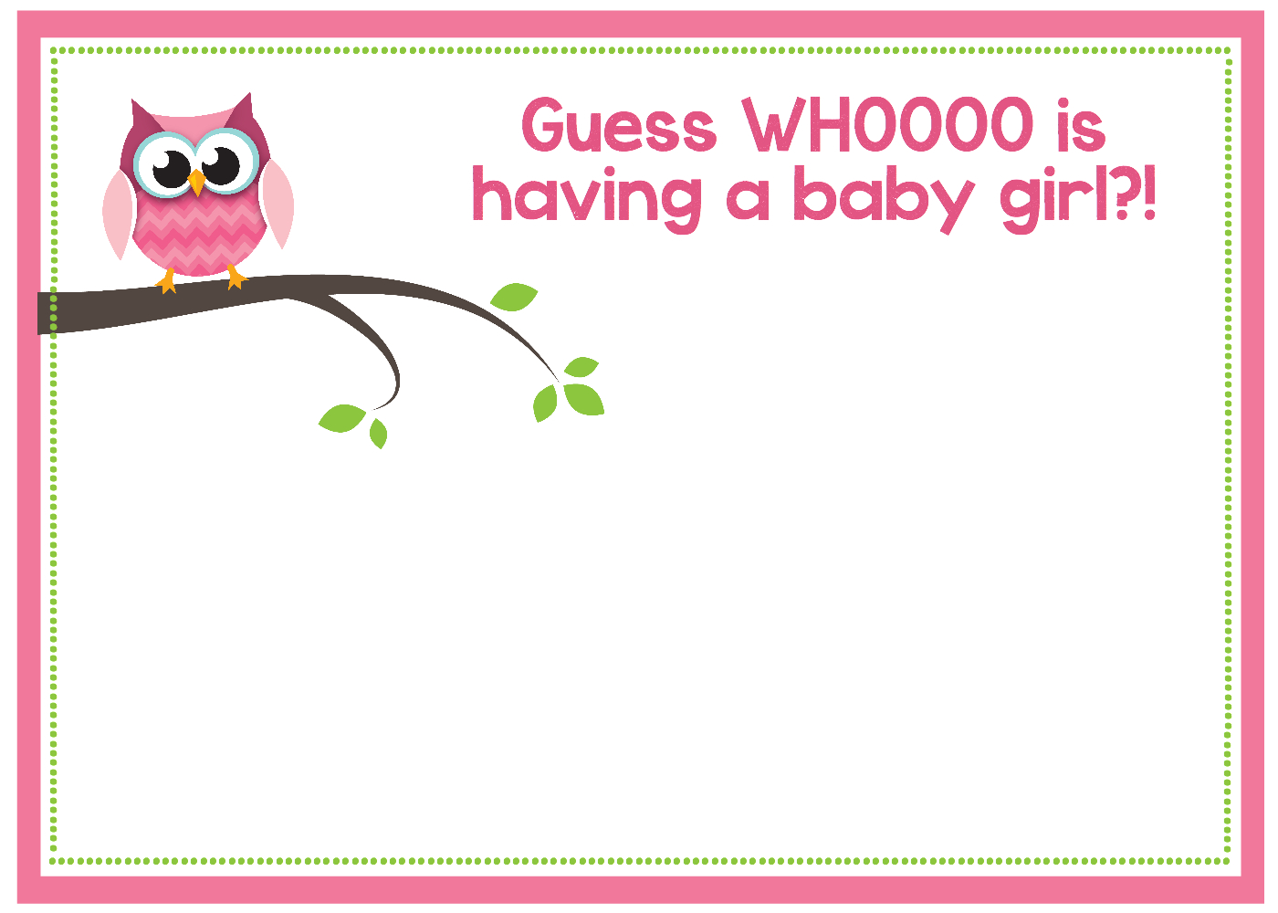 Free Printable Owl Baby Shower Invitations {& Other Printables} - Baby Shower Templates Free Printable