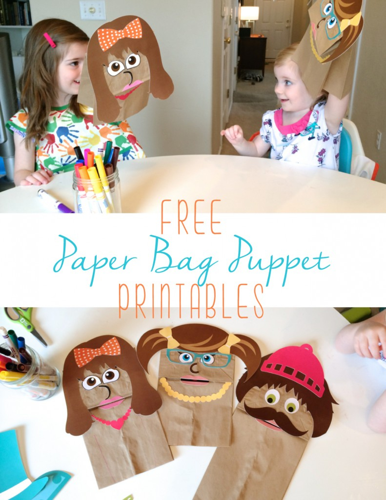 Free Printable Paper Bag Puppets - Free Printable Paper Bag Puppet Templates