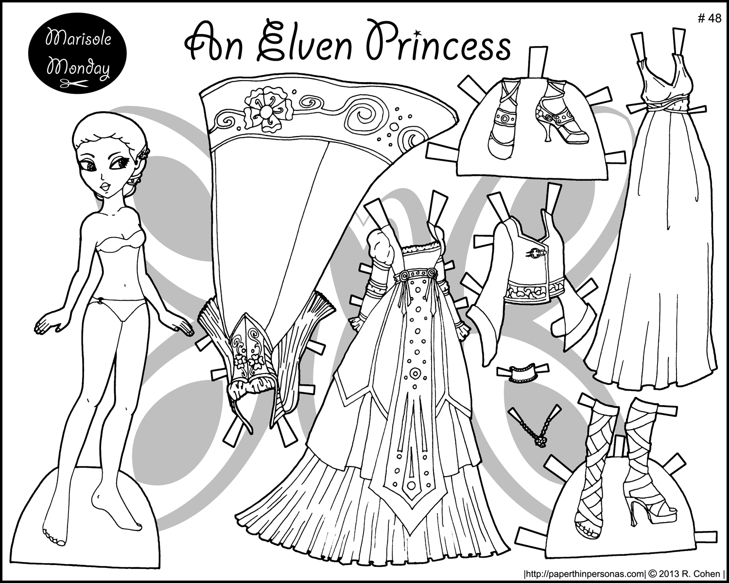 Free Printable Paper Doll Coloring Pages For Kids Pertaining To - Printable Paper Dolls To Color Free