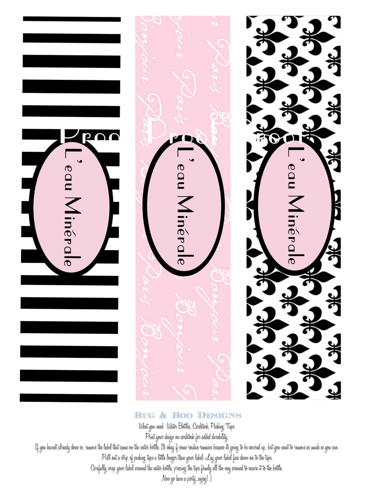 Free Printable Paris Water Bottle Labels | Download Them Or Print - Free Printable Paris Water Bottle Labels