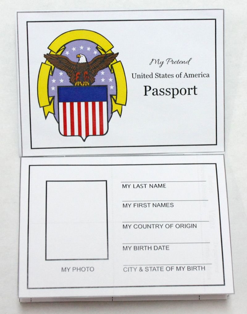 Free Printable Passports For World Thinking Day | Crafts For Work - Free Printable Passport Template