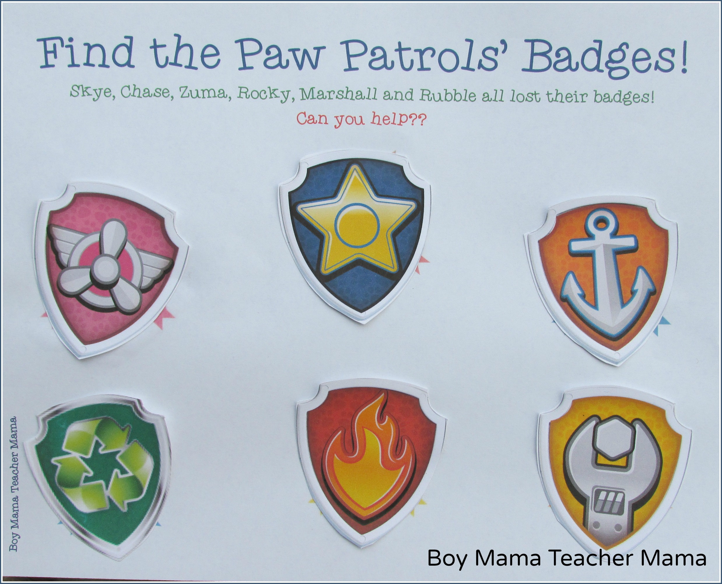 Free Printable Paw Patrol Badges | Fiscalreform - Free Printable Badges