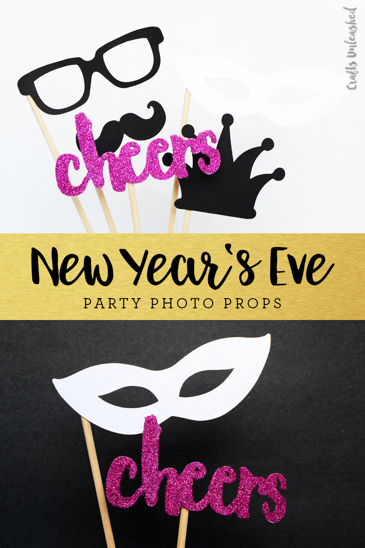 Free Printable Photo Booth Props: New Year's Eve - Consumer Crafts - Free Printable Photo Booth Props
